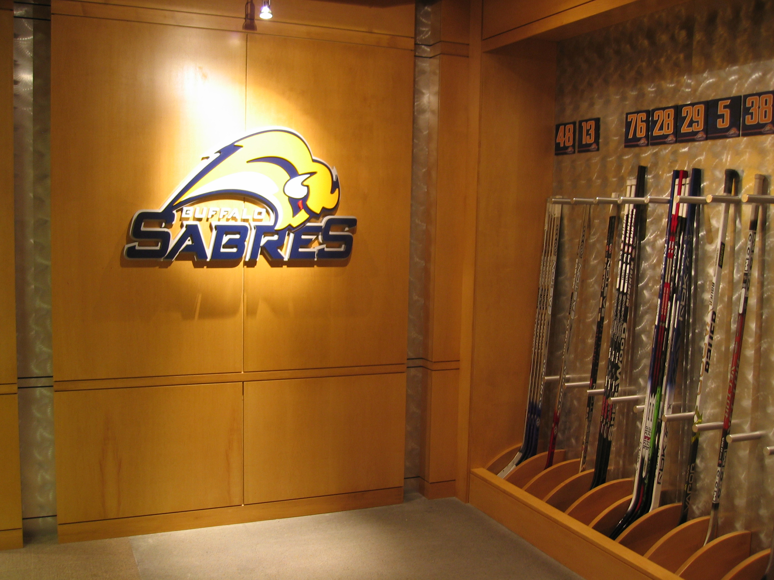 Buffalo Sabres Locker Room Images